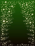 Christmas tree. Background with stars Royalty Free Stock Images