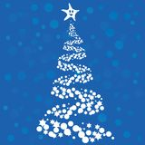Christmas tree. Abstract Christmas tree on blue background Stock Photography