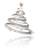 Christmas tree. 3D render of a Christmas tree Royalty Free Stock Image