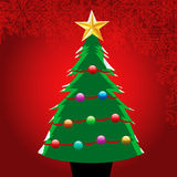 Christmas Tree. Vector illustration of a christmas tree Stock Images