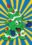 Christmas tree. Happy Christmas tree vector illustration vector illustration