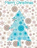 Christmas tree. Christmas card with abstract tree Stock Image