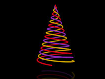 Christmas tree. Abstract spiral christmas tree. 3d Stock Photo