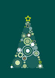 Christmas Tree. Abstract Green and Yellow Christmas Tree Background Stock Illustration