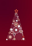 Christmas tree. Abstract Claret Christmas Tree Background Stock Photo