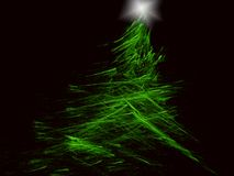 Christmas Tree. Computer-rendered abstract Christmas tree background Royalty Free Stock Photos