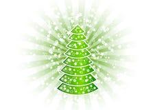 Christmas tree. With shining stars Royalty Free Stock Photo