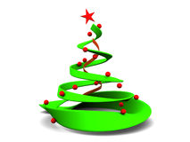 Christmas tree. Abstract 3d illustrationof christmas tree over white background Stock Photos