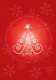 Christmas tree. Abstract illustration vector illustration