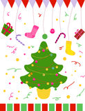 Christmas Tree. Vector illustration of christmas Tree Royalty Free Stock Photos