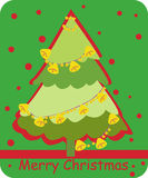 Christmas Tree. Illustration of cute christmas tree Royalty Free Stock Images