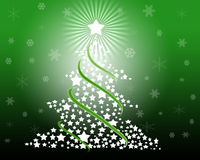 Christmas tree. An illustration of Christmas tree drawn by graphic effects Royalty Free Stock Images
