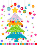 Christmas Tree. Vector illustration of christmas tree,christmas ball Stock Photos