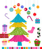 Christmas Tree. Vector illustration of christmas tree,christmas ball Royalty Free Stock Photos