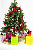 Christmas Tree. With many gifts Royalty Free Stock Images