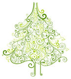 Christmas tree. Illustration drawing of Christmas tree royalty free illustration