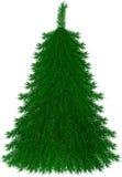 Christmas tree. Isolated  christmas tree on white background Stock Photo