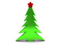 Christmas tree. Abstract 3d illustration of christmas tree over white background Royalty Free Stock Images