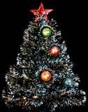 Christmas tree. Over black background Stock Photo