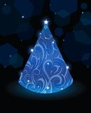 Christmas tree. Artistic Christmas tree. Good for greeting cards Stock Illustration