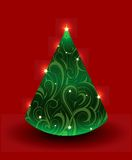 Christmas tree. Artistic Christmas tree. Good for greeting cards Royalty Free Illustration