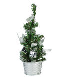 Christmas Tree. With gifts and balloons for your design Stock Photos