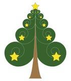 Christmas tree. Vector illustration of Christmas tree Stock Photo