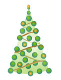 Christmas tree. On white background, digital drawing royalty free illustration