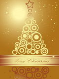 Christmas tree. Gold Christmas tree  background Stock Images