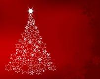 Christmas tree. Made of stars Royalty Free Stock Image