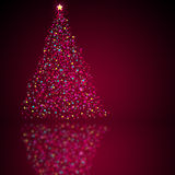 Christmas tree. Christmas tree with  reflection.  May be used as background Royalty Free Stock Photography