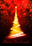 Christmas tree. Beautiful gold Christmas tree with star Royalty Free Stock Image