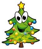 Christmas tree. Funny christmas tree - vector illustration Stock Image