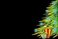 Christmas tree. On black background Royalty Free Stock Photography