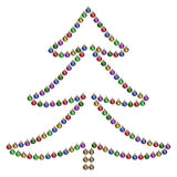 Christmas tree. With glass balls on a white background stock photo