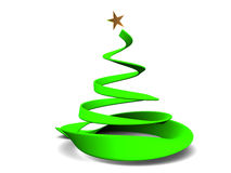 Christmas tree. Abstract 3d illustration of stylized christmas tree over white background Stock Images