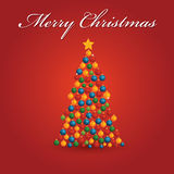 Christmas tree. Illustration which can be used for Christmas card Stock Images