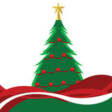 Christmas Tree. Vector illustration of a christmas tree Royalty Free Stock Photo