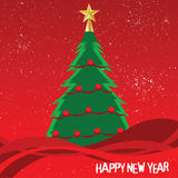 Christmas Tree. Vector illustration of a christmas tree Royalty Free Stock Photos