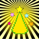 Christmas tree. Celebratory abstract background, preparation for the designer Royalty Free Stock Photography