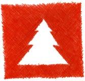 Christmas tree. High resolution pencil drawn christmas tree stock illustration