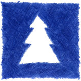 Christmas tree. High resolution pencil drawn christmas tree Royalty Free Stock Images