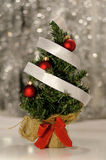 Christmas tree. Decorated Christmas tree against the holiday background Stock Photo