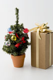 Christmas tree. And some presents Royalty Free Stock Photo