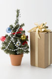 Christmas tree. And some presents Royalty Free Stock Photography