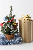 Christmas tree. And some presents Stock Photography