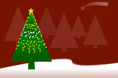 Christmas tree. Christmas greeting card with tree vector illustration