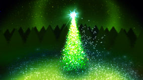 Christmas tree. Magic christmas tree with magic dust Stock Image