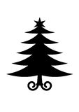 Christmas tree. Simple flat picture of Christmas tree vector illustration