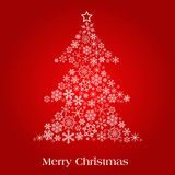 Christmas tree. Vector christmas tree made of beautiful snowflakes Royalty Free Stock Images